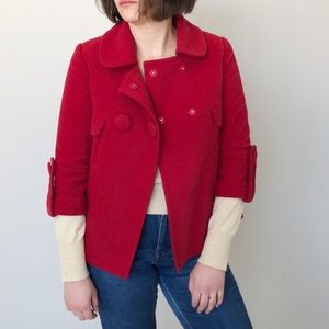 Jack by BB Dakota Women's Red Pea Coat Size M